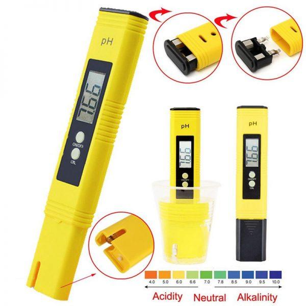 เครื่องวัดค่า pH meter Digital Pro ไม่ต้องใช้ไขควงในการปรับค่าในการสอบเทียบ
