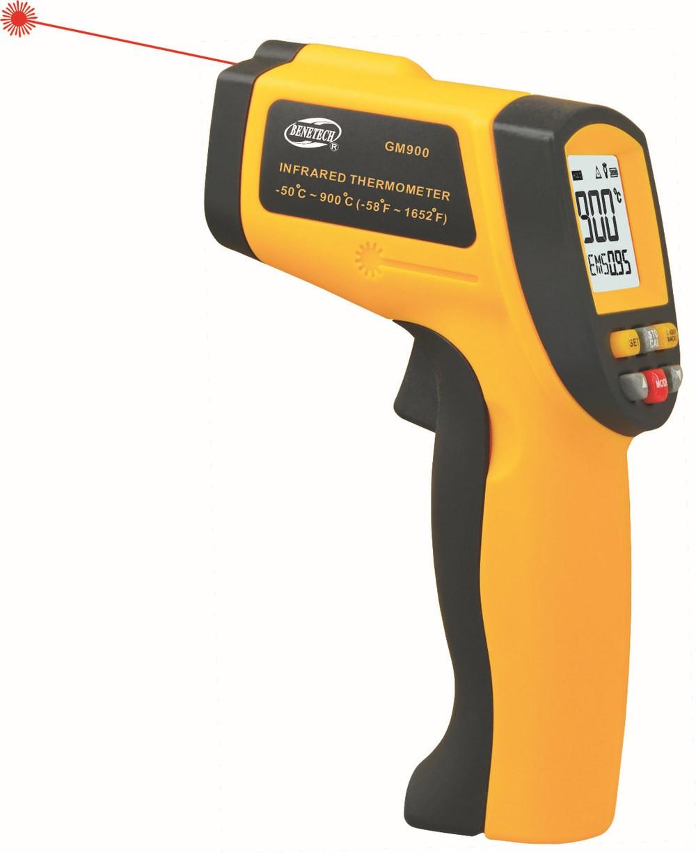 Non-contact-IR-Digital-Infrared-Thermometer-with-Laser-GM900-50-900C-Wholesale IT06-เครื่องวัดอุณหภูมิแบบไม่สัมผัส Benetech รุ่น GM900 Digital Infrared Thermometer -50°C~900°C ( -58°F~1652°F )