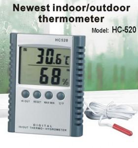 HY04-เครื่อง วัดอุณหภูมิ-ความชื้น แบบภายในและภายนอก Hygro-Thermometer HC520