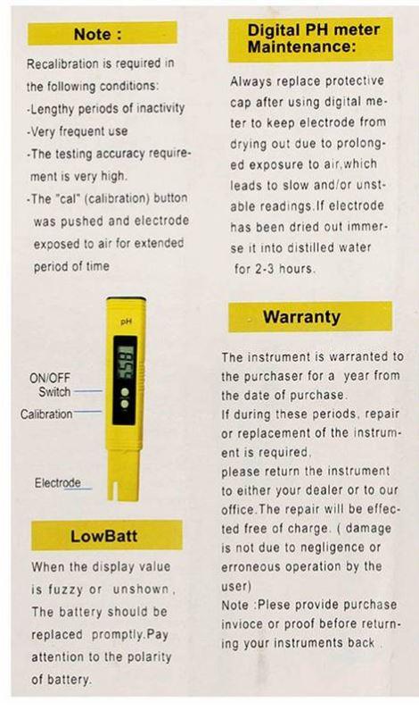 PH05-เครื่องวัดค่า pH meter Digital Pro ไม่ต้องใช้ไขควงในการปรับค่าในการสอบเทียบ